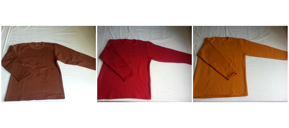 เสื้อกันหนาว แขนยาว ผ้าฟลีซ(Fleece)ผ้าเนื้อหนา
